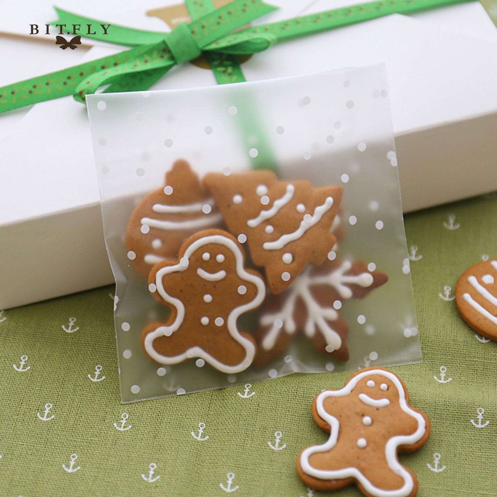 Self-Adhesive Transparent Cookies/Candy Bags